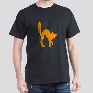 Orange Halloween Cat T-Shirt
