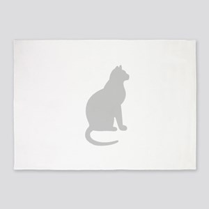 Grey Cat 5'x7'Area Rug