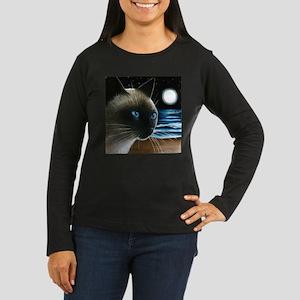 cat 396 siamese Long Sleeve T-Shirt