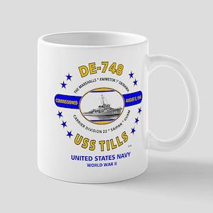 USS TILLS DE-748 WORLD WAR II Mug