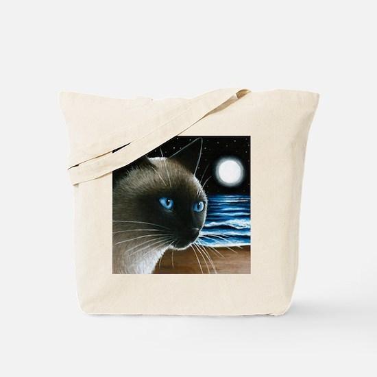 cat 396 siamese Tote Bag