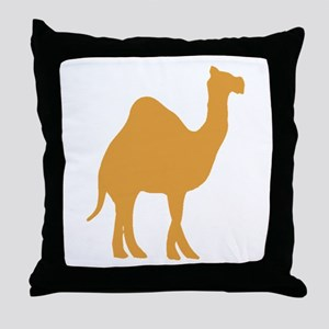 Brown Camel Throw Pillow