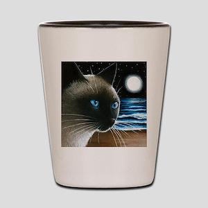 cat 396 siamese Shot Glass