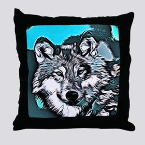 Wolf 2014-0983 Throw Pillow