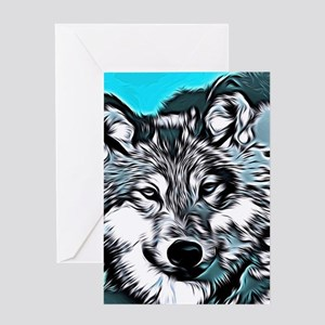 Wolf 2014-0983 Greeting Cards