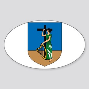 Montserrat Coat of Arms Oval Sticker