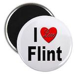 I Love Flint Magnet