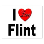 I Love Flint Small Poster