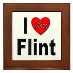 I Love Flint Framed Tile