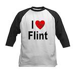 I Love Flint Kids Baseball Jersey
