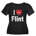 I Love Flint (Front) Women's Plus Size Scoop Neck
