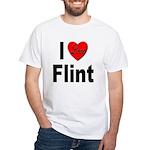 I Love Flint White T-Shirt