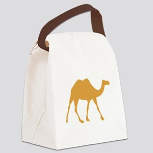 Brown Camel Canvas Lunch Bag