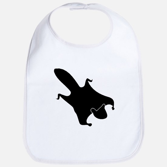 Flying Squirrel Silhouette Bib