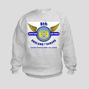 8TH ARMY AIR FORCE*ARMY AIR CORPS Kids Sweatshirt