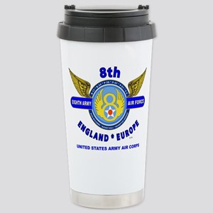 8TH ARMY AIR FORCE*ARMY Stainless Steel Travel Mug