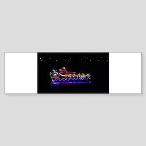 Christmas Ship Bumper Sticker