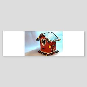 Gingerbread Birdhouse III Bumper Sticker