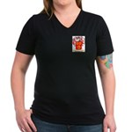Gunton Women's V-Neck Dark T-Shirt