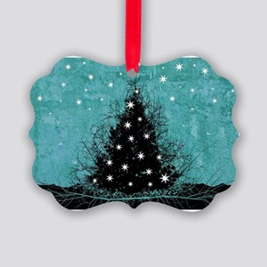 Bare Branches Holiday Tree Picture Ornament