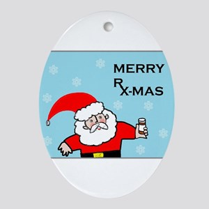 FUNNY CHRISTMAS DECOR Ornament (Oval)