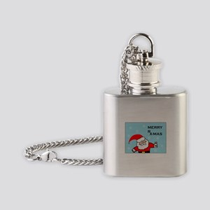 FUNNY CHRISTMAS DECOR Flask Necklace