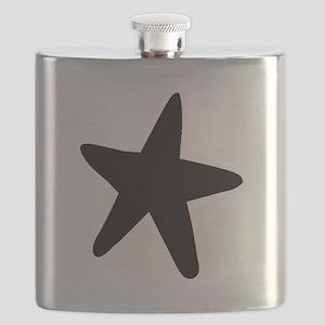 Starfish Silhouette Flask