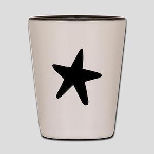 Starfish Silhouette Shot Glass