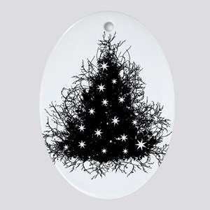 Gothic Branches Christmas Tree Ornament (Oval)
