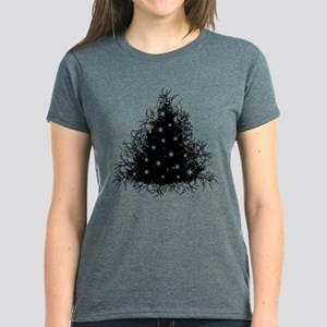 Gothic Branches Christmas Tre Women's Dark T-Shirt
