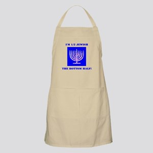 Funny Half Jewish the Bottom 1/2 Apron