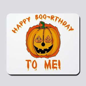 Happy Boorthday Halloween Birthday Mousepad