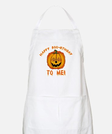 Happy Boorthday Halloween Birthday BBQ Apron