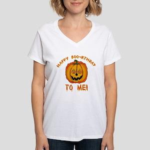 Happy Boorthday Halloween Birthday Women's V-Neck