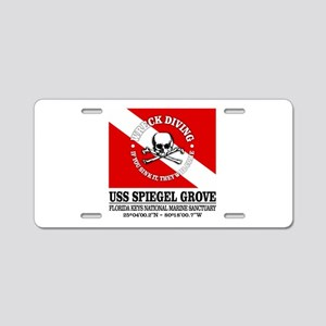 USS Spiegel Grove Aluminum License Plate