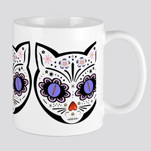 Kitty Kat Sugar Skull 11 oz Ceramic Mug