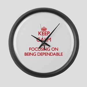 Being Dependable Large Wall Clock