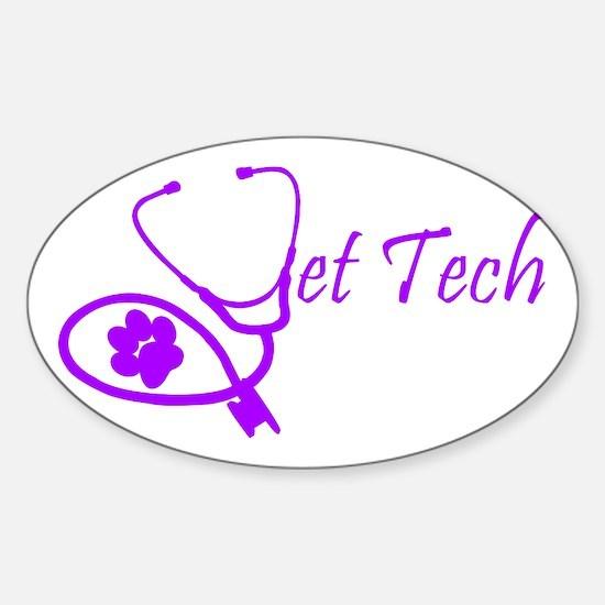 vet tech stethoscope design Decal