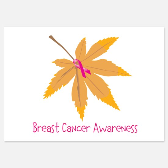 Breast Cancer Awareness Leaf Invitations
