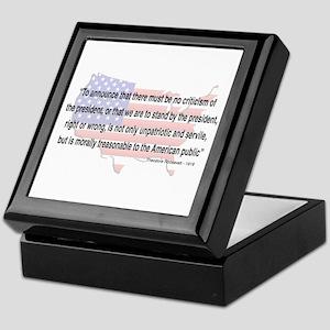 Teddy Roosevelt - 1918 Quote Keepsake Box