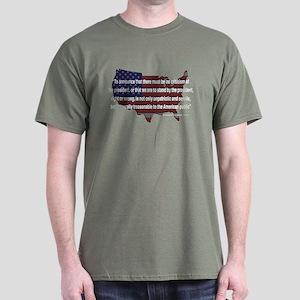 Teddy Roosevelt - 1918 Quote Dark T-Shirt
