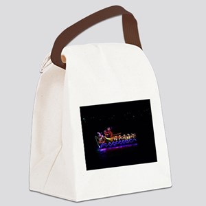Christmas Ship Canvas Lunch Bag