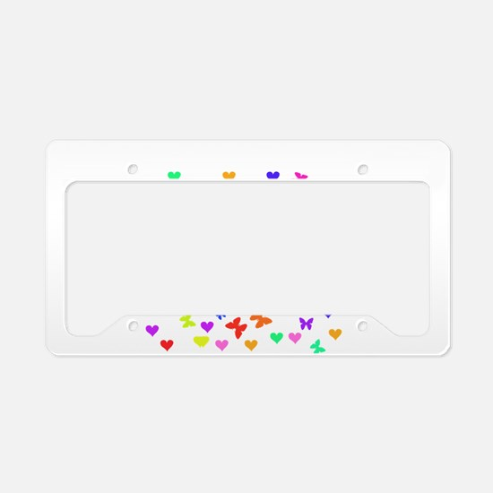 Butterfly Kiss my Port License Plate Holder