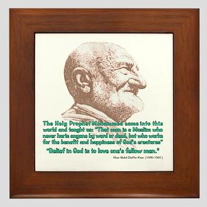 Khan Quote Framed Tile