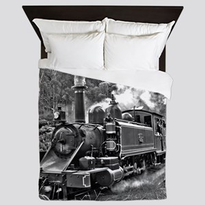 Narrow Gauge Railway Steam Train Engin Queen Duvet