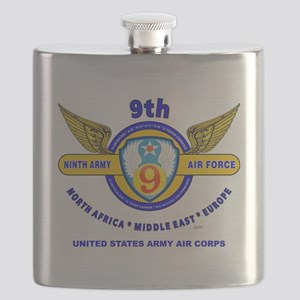 9TH ARMY AIR FORCE WORLD WAR II Flask