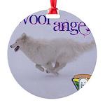 WOOF Angel Ornament