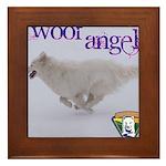 WOOF Angel Framed Tile