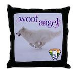 WOOF Angel Throw Pillow