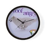 WOOF Angel Wall Clock